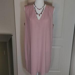 DKNY dusty rose sleeveless dress v neck large